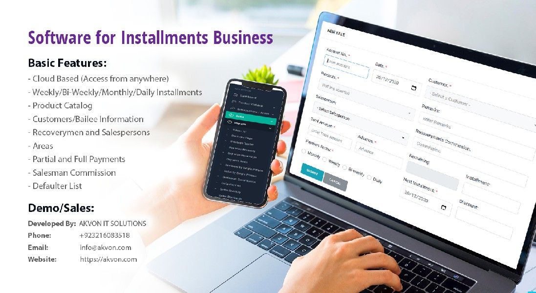 Installments and Payment Software Pakistan