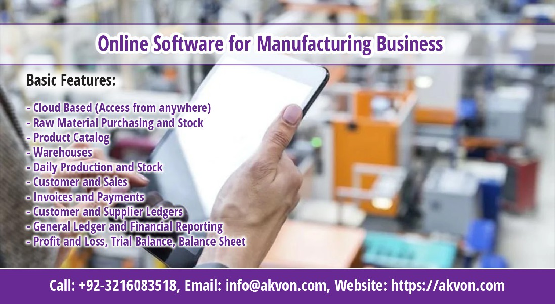 Manufacturing/Production Software in Pakistan