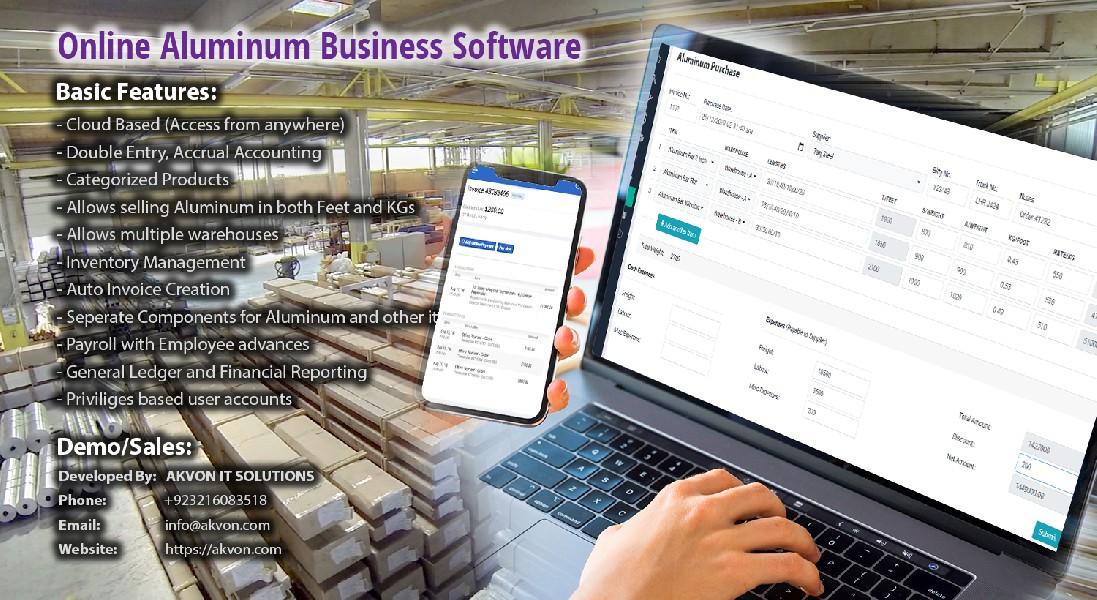 Software for Aluminum Business | Aluminum Windows/Doors Pakistan
